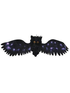 Black Light Up Owl 2.5' Wide