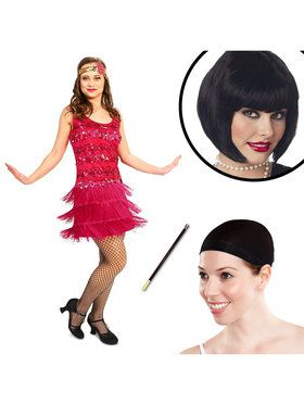 20's Vintage Inspired Adult Flapper Costume Kit