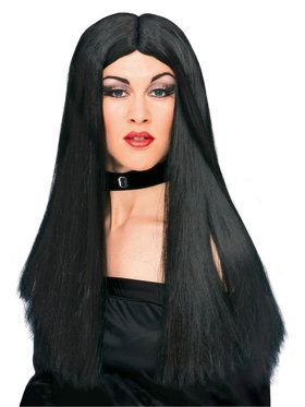 "24"" Black Witch Wig For Adults"