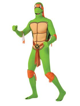 2nd Skin Suit Adult Michelangelo Costume