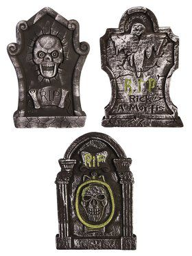 RIP Tombstone 3 Piece Dcor Assortment