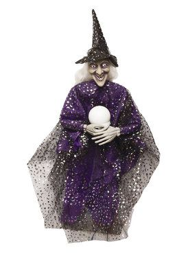 Witch with Crystal Ball Prop - 36""