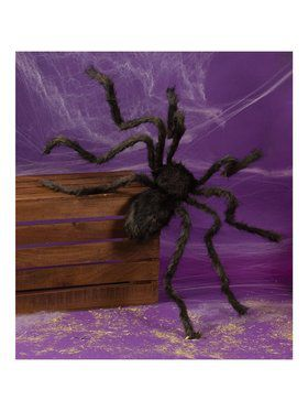 50 Black Posable Hairy Spider
