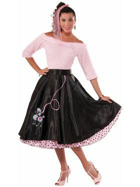 50'S Poodle Skirt - Black