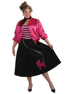 50s Poodle Skirtset Plus Size Costume