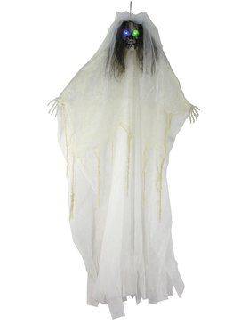 57-inch Bride Skull Light-Up Prop