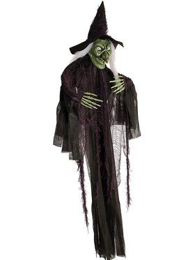 60-inch Hanging Witch Prop