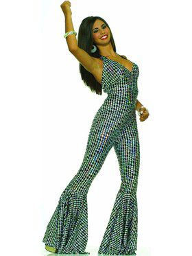 Boogie Dancin' Babe Jumpsuit Costume for Women