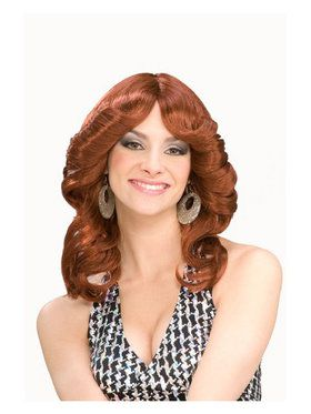 70s Disco Doll Auburn Wig Adult