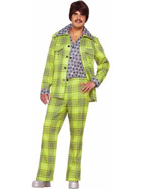 70s Plaid Leisure Suit Adult Costume Standard