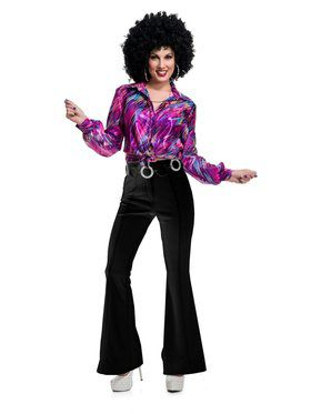70'S Women Disco Pants - Black