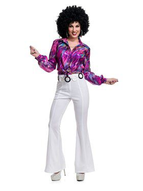 70'S Women Disco Pants - White