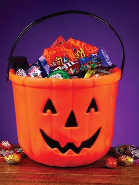 "8"" Pumpkin Treat Bucket"