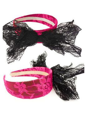 1980s Headband with Lace and Bow