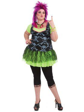 80s Punk Lady Costume (Plus Size)