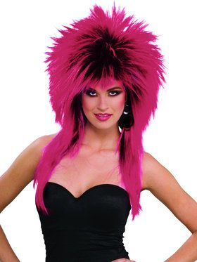1980s Purple Pizzazz Costume Wig for Adults