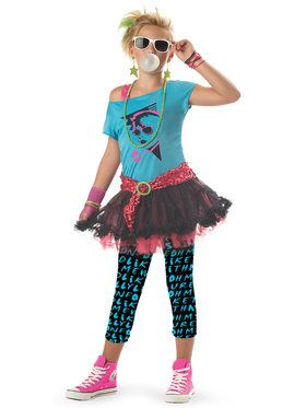 80's Valley Girl Child Small Costume
