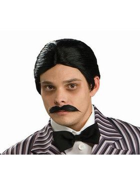Gomez Addams Tm Wig And Moustache Kit