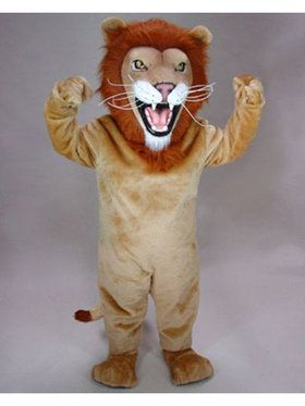 Adult African Lion Mascot Costume