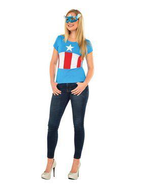 Adult American Dream Costume Top and Mask
