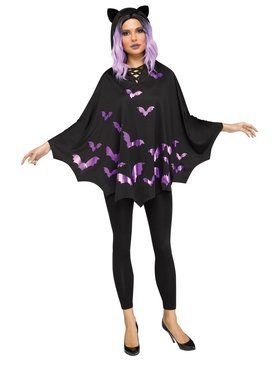 Bat Poncho Adult Costume