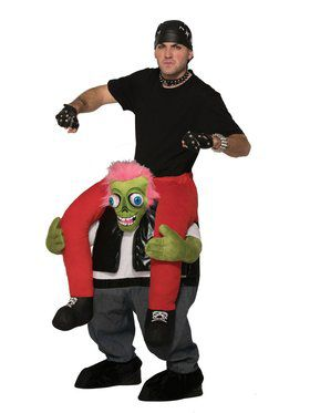 Biker Zombie Ride-on Costume for Adults