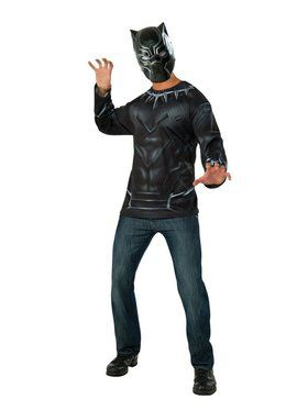 Adult Black Panther Costume Top and Mask