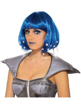 Adult Blue Light Up Wig