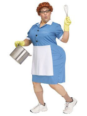 Adult Cafeteria Lady Costume