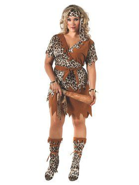 Adult Cavewoman Plus Size Costume