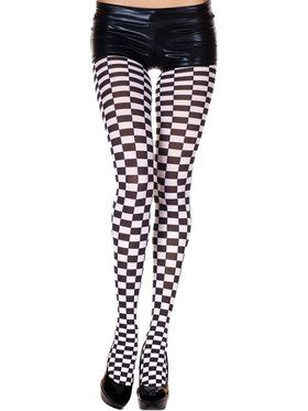 Adult Checker Tights