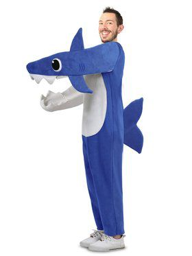 Adult Chompin' Daddy Shark Costume with Sound Chip