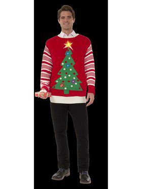 Adult Christmas Tree Light Up Sweater