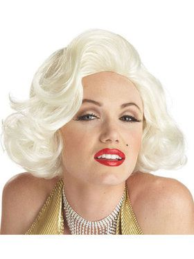 Adult Classic Platinum Blonde Marilyn Mo