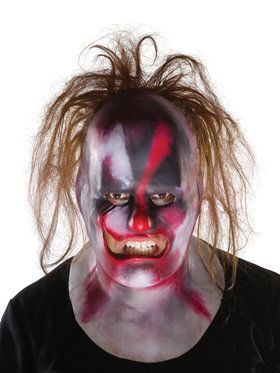 Adult Clown Full Mask with Hair