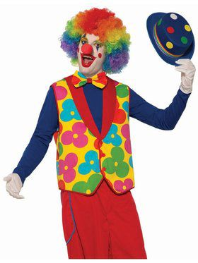 Adult Clown Vest & Tie Costume