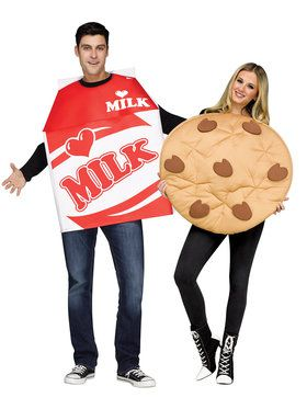Adult Cookies & Milk Costume Couples Cos
