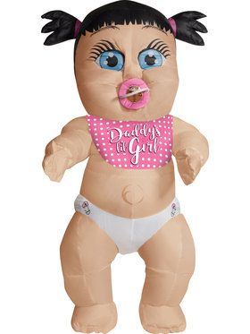 Inflatable Adult Daddy's Girl Baby Costume