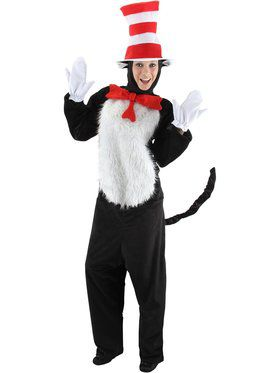 Dr Seuss Cat In The Hat Deluxe Adult Costume