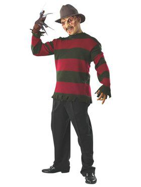 Adult Deluxe Freddy Sweater with Mask Costume