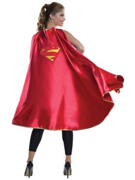 Deluxe Supergirl Cape for Adults