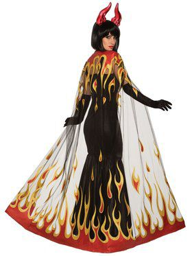 Devil Fire Adult Cape