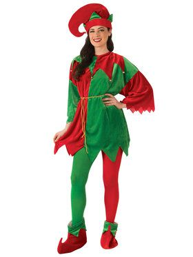Adult Elf Costume Set with Shoes