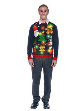 Adult Everything Christmas Light Up Sweater