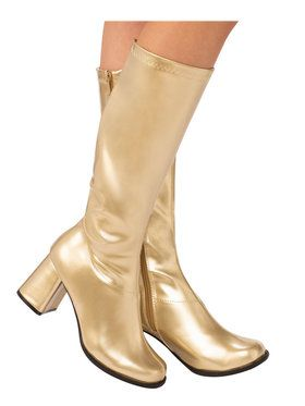 Adult Gold GoGo Boot