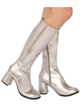 Adult Silver GoGo Boot