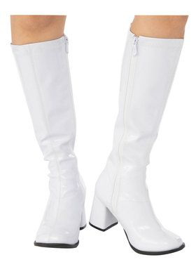 Adult White GoGo Boot
