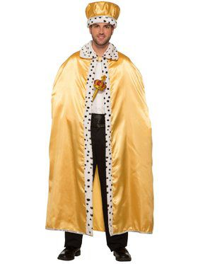 Gold Royal Cape For Adults