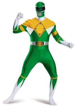 Adult Green Power Ranger Bodysuit Costume