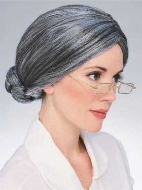 Adult Grey Old Lady Wig